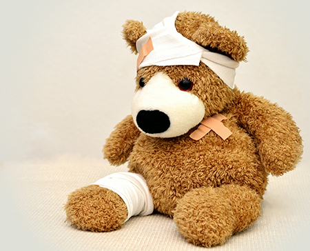 Sick Pay Teddy With Bandages